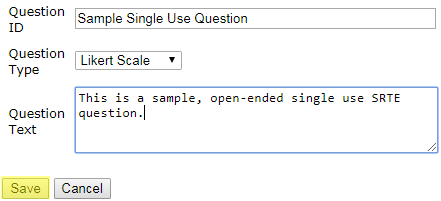 Sample Single Use Question Image